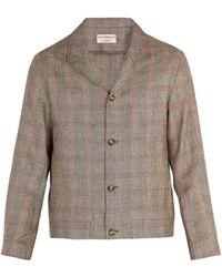 Éditions MR - Bonaparte Checked Linen Blend Jacket - Lyst