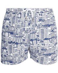 Frescobol Carioca - Sports Predios-print Swim Shorts - Lyst