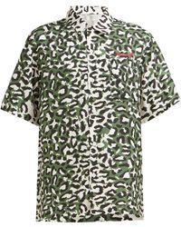 Maharishi - Leopard Print Silk Shirt - Lyst