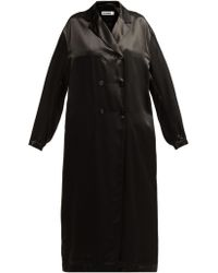Jil Sander - Groove Double Breasted Satin Duster Coat - Lyst