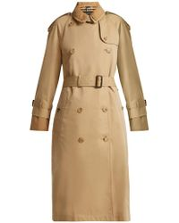 Burberry - Double-layer Cotton-gabardine Trench Coat - Lyst