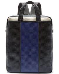 Bottega Veneta - Convertible Striped Intrecciato Leather Bag - Lyst