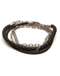 Title Of Work - 5-wrap Leather And Sterling-silver Bracelet - Lyst