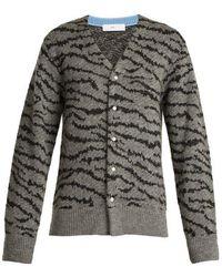 Toga - Animal-jacquard Wool-blend Cardigan - Lyst