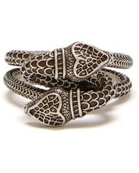 Gucci - Snake Sterling Silver Ring - Lyst