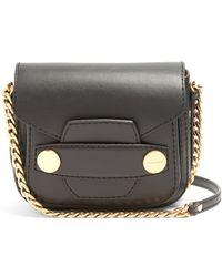 Lyst - Stella Mccartney Popper Mini Faux-leather Shoulder Bag in Brown cb516bd27e169