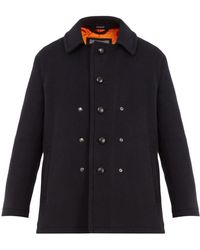 Lanvin - Single-breasted Wool And Mohair-blend Pea Coat - Lyst