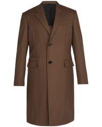 Berluti - Single Breasted Cotton Blend Overcoat - Lyst