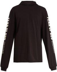 Fear Of God - Logo-printed Hooded Cotton Sweatshirt - Lyst