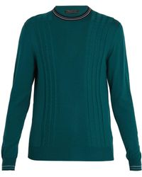 Prada - Cable-knit Wool Sweater - Lyst