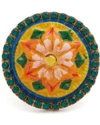 Dolce & Gabbana - Crystal-embellished Floral Ring - Lyst