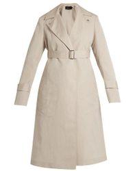 CALVIN KLEIN 205W39NYC - Peak-lapel Long Silk-blend Coat - Lyst