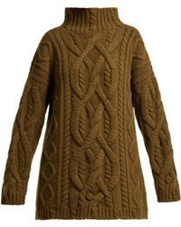 CONNOLLY - Cable Knit Wool And Cashmere Blend Sweater - Lyst