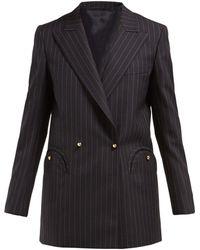 Blazé Milano - J Class Double Breasted Pinstripe Wool Blazer - Lyst