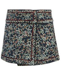 Étoile Isabel Marant - Hanon Floral-print Quilted Skirt - Lyst