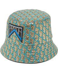 Prada - Geometric Jacquard Logo Patch Bucket Hat - Lyst 08f8b72bb05