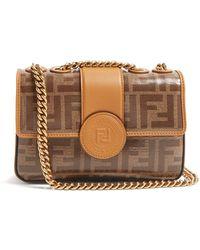 Fendi - Ff Baguette Mini Leather Bag - Lyst