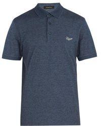 Ermenegildo Zegna - Logo-embroidered Cotton Polo Shirt - Lyst