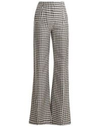 Sonia Rykiel - Gingham Wide-leg Twill Trousers - Lyst