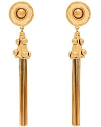 Sylvia Toledano - Pompom Tassel Drop Clip On Earrings - Lyst