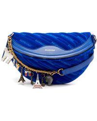 Balenciaga - Souvenir Velvet Belt Bag - Lyst