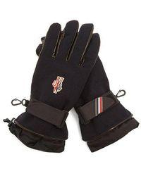 Moncler Grenoble - - Logo Embroidered Twill Gloves - Mens - Navy - Lyst