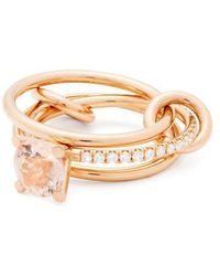 Spinelli Kilcollin - - Sonny 18kt Rose Gold, Diamond And Morganite Ring - Womens - Rose Gold - Lyst