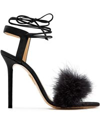 Charlotte Olympia - Salsa 110 Feather-trimmed Suede Sandals - Lyst