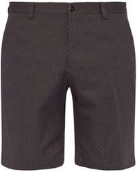 Etro - Geometric Print Cotton Blend Shorts - Lyst