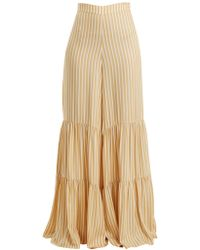 Adriana Degreas | Two-tier Striped Wide-leg Trousers | Lyst