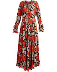 Diane von Furstenberg - Boswell Floral-print Silk Dress - Lyst
