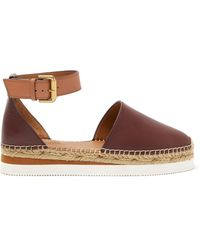 See By Chloé - Raised-sole Leather Espadrilles - Lyst