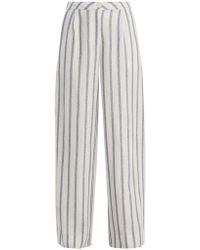Thierry Colson - Biarritz Spugna Wide-leg Striped Trousers - Lyst