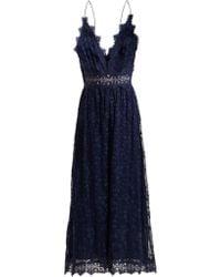 3e7db5221fd Zimmermann - Castile Antique Lace Trimmed Silk Jumpsuit - Lyst