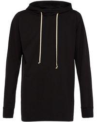 Rick Owens - Longline Cotton Hooded Sweatshirt - Lyst