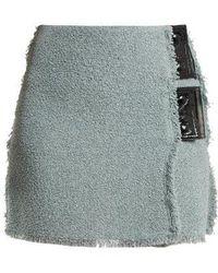 Sonia Rykiel - Bouclé Vinyl-detail Mini Skirt - Lyst