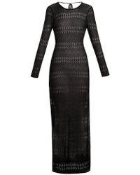 Melissa Odabash - Melissa Scoop-back Pointelle-knit Maxi Dress - Lyst