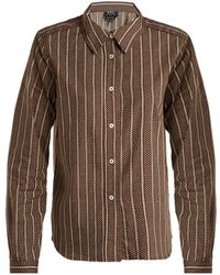 A.P.C. - Mike Cotton And Silk-blend Shirt - Lyst