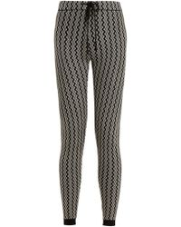 Perfect Moment | Frequency Zigzag-intarsia Slim-leg Wool Trousers | Lyst