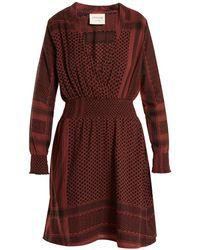 Cecilie Copenhagen - Zoetic V-neck Scarf-jacquard Cotton Dress - Lyst
