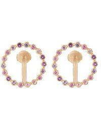 Charlotte Chesnais - Saturn Small Sapphire, Amethyst & Gold Earrings - Lyst