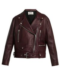 Acne Studios - Merlyn Oversized Leather Biker Jacket - Lyst