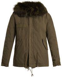 Mr & Mrs Italy - Fur-lined Cotton-canvas Mini Parka - Lyst