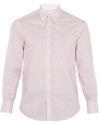 Brunello Cucinelli   Striped Single-cuff Cotton Shirt   Lyst