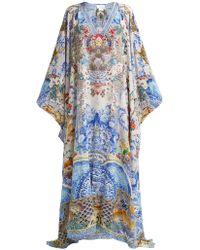 Camilla - Geisha Gateways Printed Silk Kaftan - Lyst