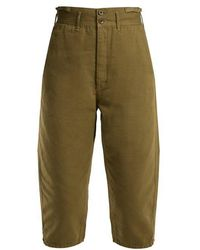 Chimala - High-rise Cotton Cropped Trousers - Lyst
