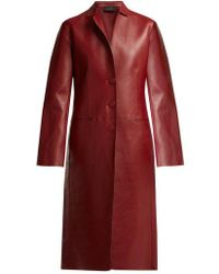 JOSEPH - Anda Bonded-leather Coat - Lyst