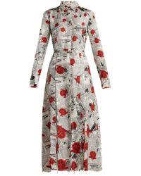 Gabriela Hearst - Jane Newspaper-print Silk Twill Shirtdress - Lyst
