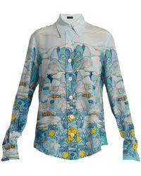 JOSEPH - New Garcon Point-collar Landscape-print Shirt - Lyst