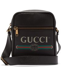 10a9bed8df6369 Gucci Snake Print Leather Duffle in Black for Men - Lyst